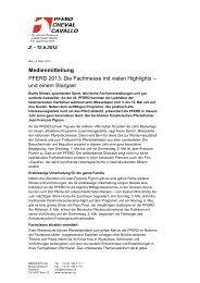PFERD 2013 - Wirtschaftsraum Bern