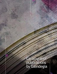 Catalogue of publications by Gaindegia