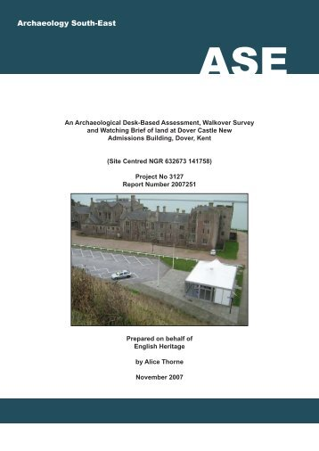 ASE front cover 3127 Dover Castle - Archaeology South-East