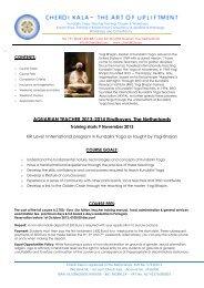 AQUARIAN TEACHER 2013-2014 Eindhoven, The ... - Cherdi Kala