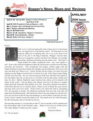 Bopper's News, Blues and Reviews APRIL/MAY 2006 Issue