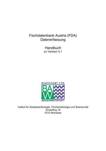 Handbuch FDA.Datenerfassung - Vorarlberg