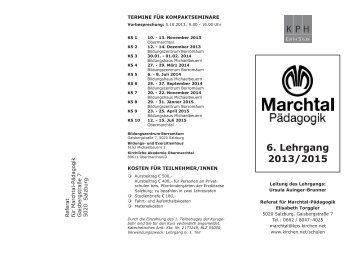6. Lehrgang 2013/2015 - Katechetisches Amt - Erzdiözese Salzburg