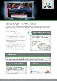 Podrobné informace o službě NETBOX Reklama v TV