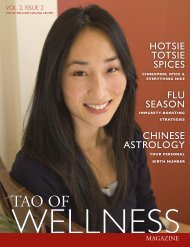 Wellness Magazine - Tao of Wellness