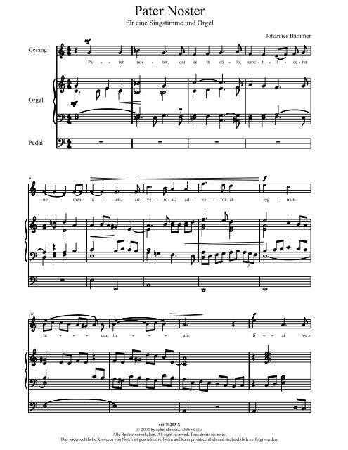 Pater Noster - Schmidmusic.de