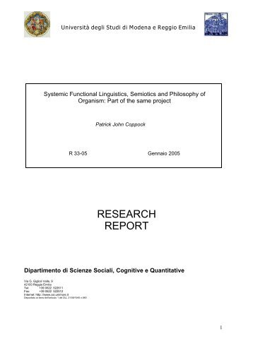 Systemic Functional Linguistics, Semiotics and Philosophy of ...
