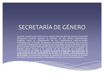 Secretaria de Género - Poder Judicial
