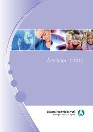 Årsrapport 2010 - Statens legemiddelverk