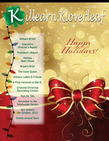 December 2012 - Killearn Homes Association
