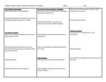 chapter 1 apush notes americas history Use this information to ace your ap us history quizzes and tests vocabulary every important vocabulary word from american pageant (13th edition), broken down chapter-by-chapter for quick review.