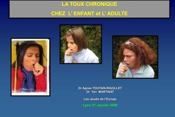 la toux chronique - Les Jeudis de l'Europe