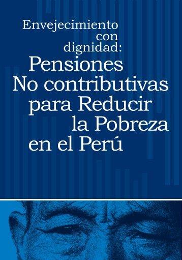 Pensiones no contributivas para reducir la pobreza en el Perú