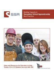 Building Capacity in Secondary School Apprenticeship Best Practices