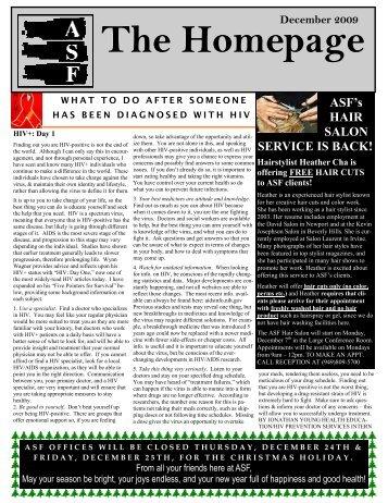 December 2009 - AIDS Services Foundation Orange County