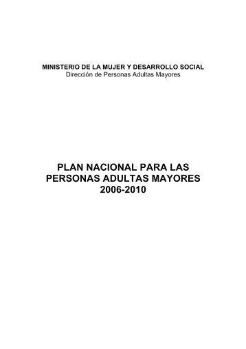 plan nacional para las personas adultas mayores 2006-2010 - Red ...