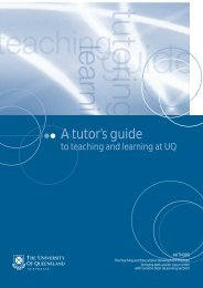 A tutor's guide to teaching and learning at UQ - TEDI - University of ...
