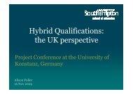 Presentation Fuller - Hybrid Qualifications