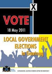 campaign poster - municipal elections 2011 - Gauteng Online
