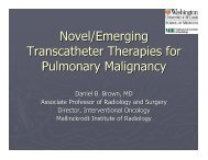 Novel and emerging transcatheter therapies - SIR Foundation