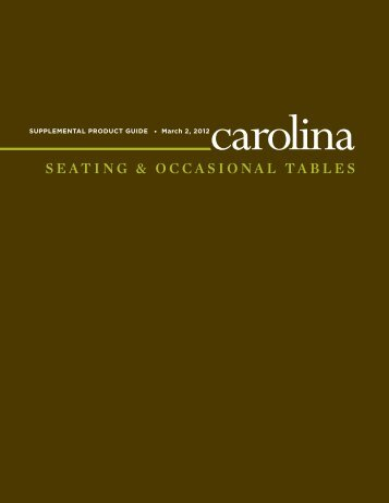 SEATING & OCCASIONAL TABLES - Carolina