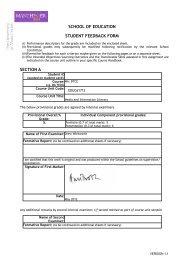 feedback form and marking criteria - MA: Digital Technologies ...