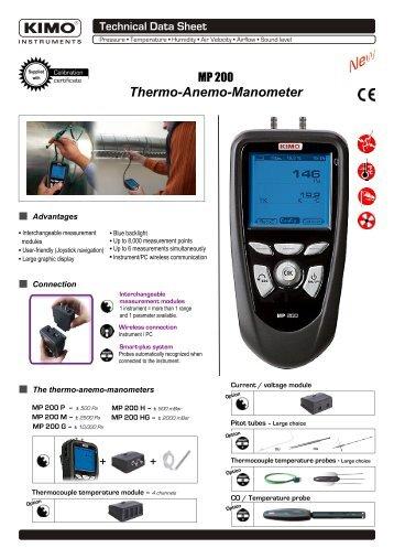 Thermo-Anemo-Manometer - Kimo Canada