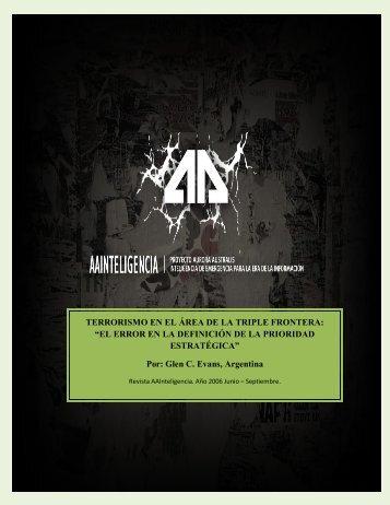 TERRORISMO EN EL ÁREA DE LA TRIPLE FRONTERA - revista ...