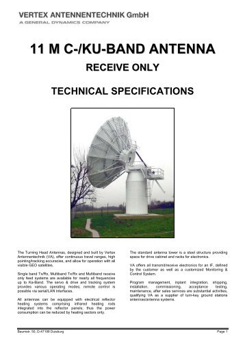 11 m c-/ku-band antenna receive only technical ... - Linetest.ru
