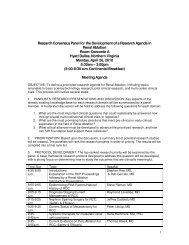 Agenda - SIR Foundation