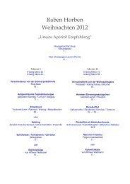 Unser Weihnachts- & Silvester-Angebot 2012 - Raben Horben