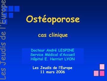 ostéoporose avec fracture - Les Jeudis de l'Europe
