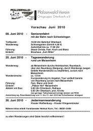 20. Juni 2010 - Ortsgruppe Otterbach e.V.