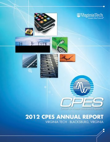 2012 CPES AnnuAl REPoRt - Virginia Tech