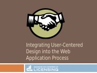 Integrating User-Centered Design into the Web Application Process ...