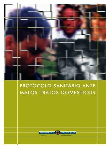 PROTOCOLO SANITARIO ANTE MALOS TRATOS DOMÉSTICOS