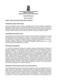 Técnico de Laboratório/ Área: Bioterista - Universidade Federal da ...