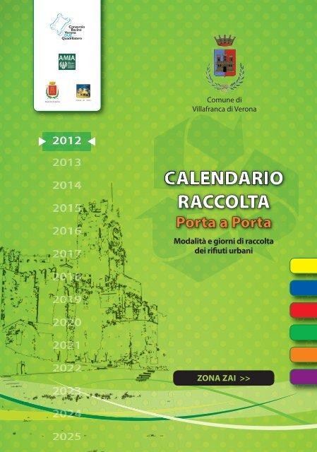 Calendario Verona.Calendario Raccolta Comune Di Villafranca Di Verona