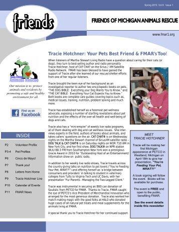 2010 1st Quarter Newsletter - Friends of MI Animals Rescue
