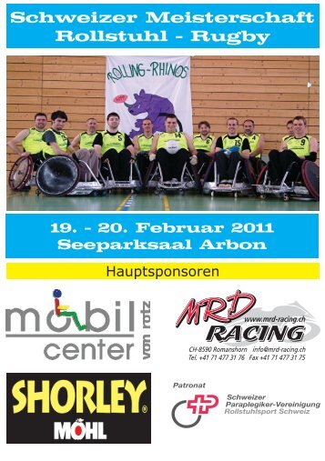 Schweizer Meisterschaft Rollstuhl - Rugby - Rolling-Rhinos