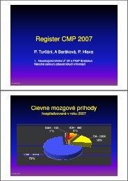 Register CMP 2007-4.ppt - Národné centrum zdravotníckych informácií