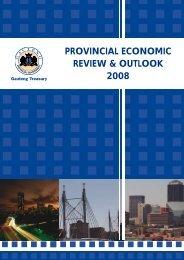 provincial economic review & outlook 2008 - Gauteng Online