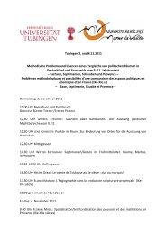 Flyer - Seminar für mittelalterliche Geschichte der Universität Tübingen