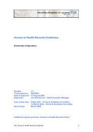 Access to Health Records Guidelines - Library - University Hospitals ...