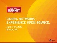 Features that help with Performance - Red Hat Summit