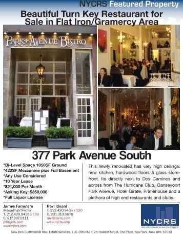 377 Park Avenue South - Jamesfamularo.com