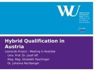 Presentation Austria - Hybrid Qualifications