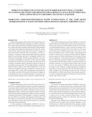 modello numerico di flusso del bacino idrogeologico della conoide ...