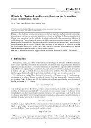 Méthode de réduction de modéle a priori basée sur ... - CSMA 2013