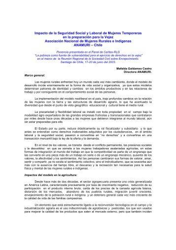 Impacto de la Seguridad Social y Laboral de Mujeres Temporeras ...
